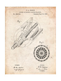 Edison Dynamo Electrical Generator Patent Print Posters par Cole Borders
