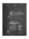 Fender Guitar Tremolo Affiches par Cole Borders