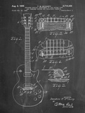 Gibson Les Paul Guitar Patent Prints by Cole Borders
