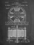 Tesla Electro Motor Patent Poster par Cole Borders