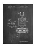 Super Nintendo Console Remote and Cartridge Patent Affiches par Cole Borders