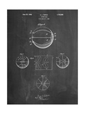 Basketball 1929 Game Ball Patent Affiches par Cole Borders