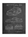 Porsche 911 with Spoiler Patent Poster par Cole Borders