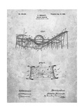 Coney Island Loop the Loop Roller Coaster Patent Affiches par Cole Borders
