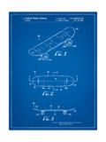Double Kick Skateboard Patent Posters par Cole Borders