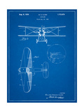Staggered Biplane Aircraft Patent Affiche par Cole Borders