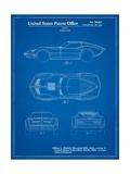 Corvette 1966 Mako Shark II Patent Affiches par Cole Borders