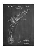 Rocket Ship Concept 1963 Patent Poster par Cole Borders