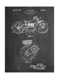Indian Motorcycle Drive Shaft Patent Posters par Cole Borders