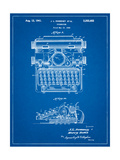 School Typewriter Patent Affiche par Cole Borders