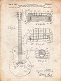 Gibson Les Paul Guitar Patent Affiche par Cole Borders