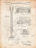 Gibson Les Paul Guitar Patent Posters by Cole Borders