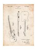 Fender Broadcaster Electric Guitar Patent Posters par Cole Borders