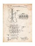 Fender Guitar Pickups Patent Affiches par Cole Borders