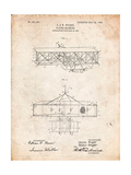 Wright Brother's Aeroplane Patent Affiche par Cole Borders