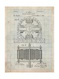 Tesla Electro Motor Patent Art par Cole Borders