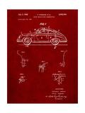 1960 Porsche 365 Patent Poster par Cole Borders