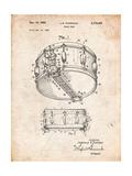 Rogers Snare Drum Patent Affiches par Cole Borders