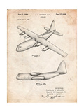 Lockheed C-130 Hercules Airplane Patent Affiches par Cole Borders