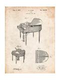Wurlitzer Butterfly Model 235 Piano Patent Affiches par Cole Borders