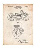 Indian Motorcycle Drive Shaft Patent Affiches par Cole Borders
