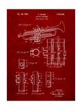 Trumpet Instrument Patent Affiches par Cole Borders