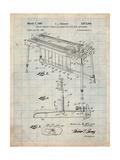 Fender Pedal Steel Guitar Patent Affiches par Cole Borders