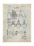 Diesel Engine Patent Posters par Cole Borders