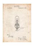 Thomas Edison Light Bulb Patent Affiche par Cole Borders