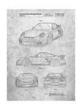 Porsche 911 with Spoiler Patent Posters par Cole Borders