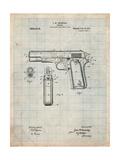 Colt 45 Patent 1911, Firearm Patent Affiches par Cole Borders