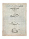 1964 Porsche 911 Patent Posters par Cole Borders