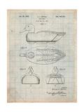 Duck Decoy Patent Poster par Cole Borders