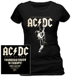 Women's: AC/DC- Thunderstruck In Europe (Front/Back) Tshirts