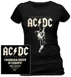 Women's: AC/DC- Thunderstruck In Europe (Front/Back) T-Shirt