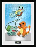 Pokemon - Kanto Starters Stampa del collezionista