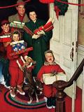 """Merry Christmas, Grandma!' Giclee Print by Norman Rockwell"