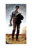 Lincoln the Railsplitter (or Young Woodcutter) Reproduction procédé giclée par Norman Rockwell