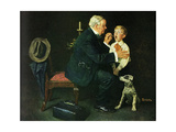'The Same Advice I Gave Your Dad . . .' Giclée-Druck von Norman Rockwell