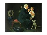 'The Same Advice I Gave Your Dad . . .' Lámina giclée por Norman Rockwell