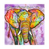 Elephant/Elefanten Giclée-Druck von Dean Russo