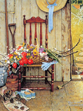 Spring Flowers Giclée-tryk af Norman Rockwell