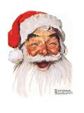 Papa Noël Reproduction procédé giclée par Norman Rockwell
