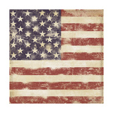 USA Flag Giclée-Druck von Stephanie Marrott