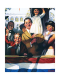Spectators at a Parade Giclee Print by Norman Rockwell