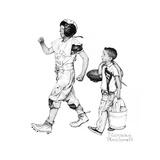 Football Hero Giclee-trykk av Norman Rockwell