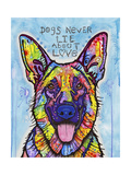 Dogs Never Lie Giclee-trykk av Dean Russo