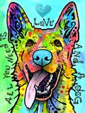 Love and a Dog Giclee-trykk av Dean Russo