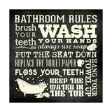 Bath Rules B&W Giclee Print by Stephanie Marrott