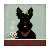 Scottie Winter Welcome Giclée-tryk af Stephanie Marrott